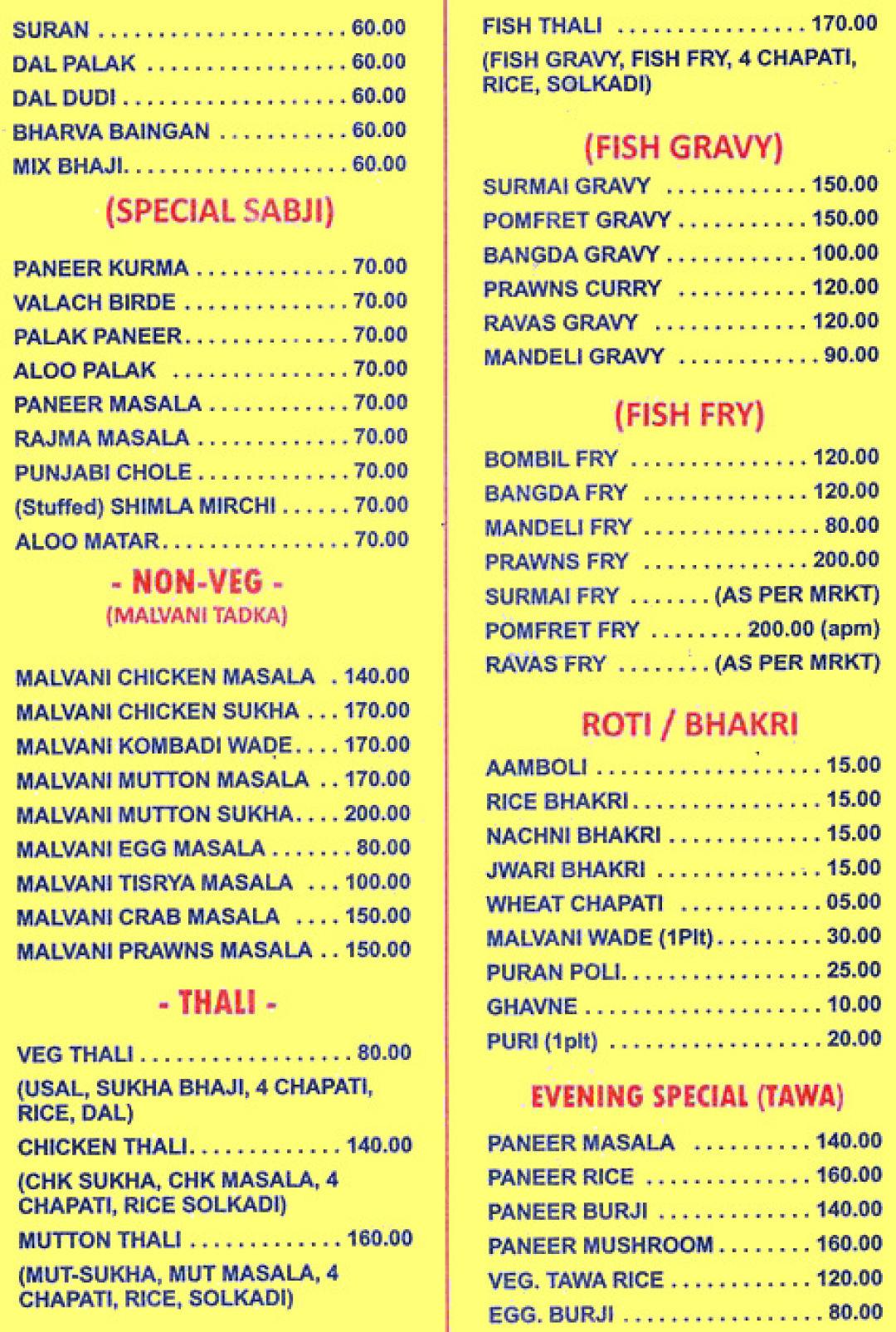 Mammas Kitchen Menu Menu For Mammas Kitchen Borivali West Western Suburbs Mumbai