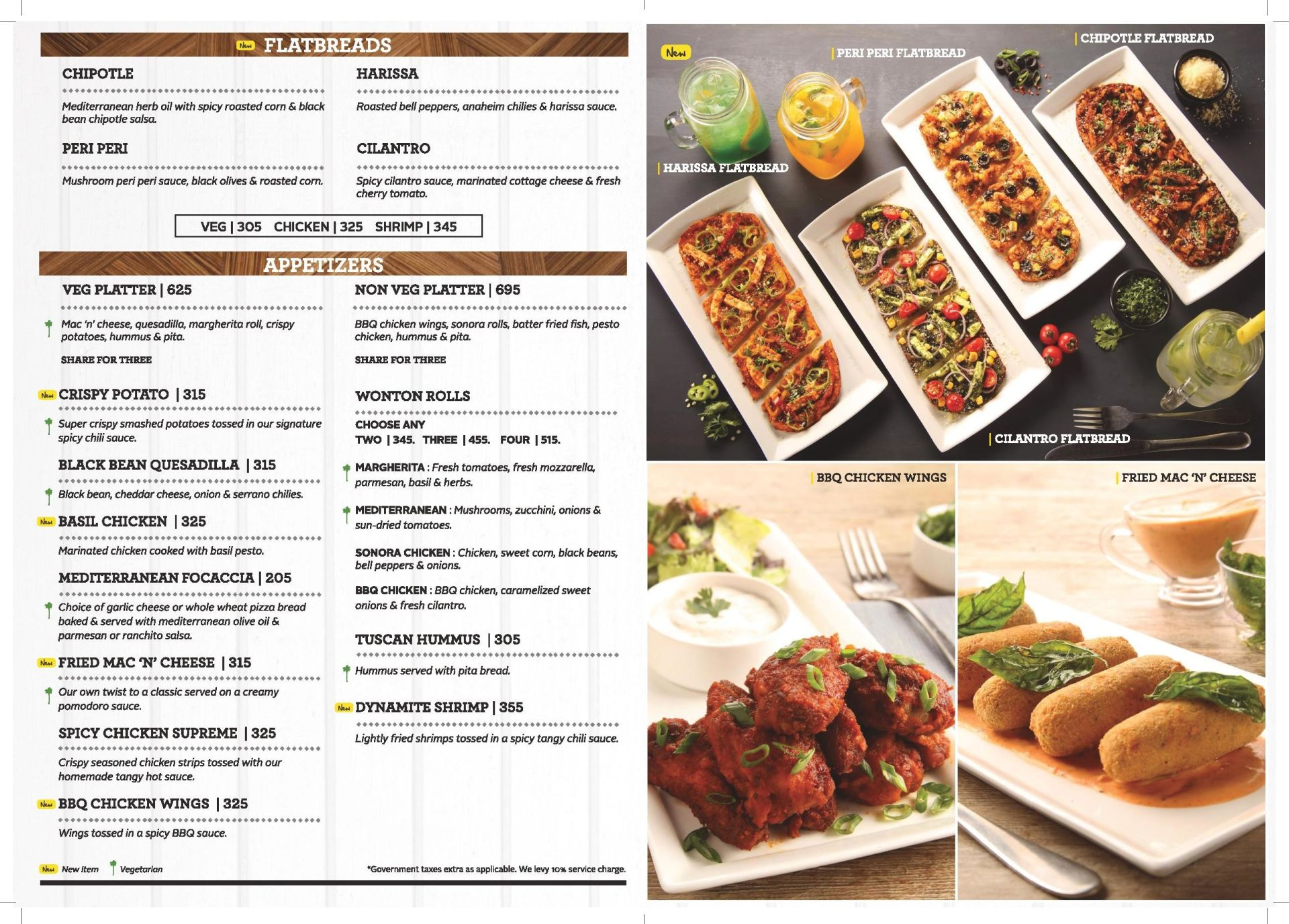 California Pizza Kitchen Mumbai Menu