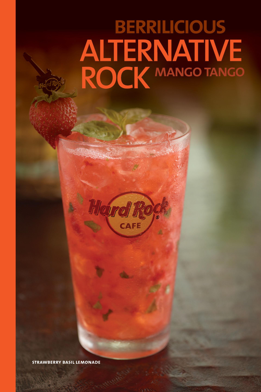 Menu of the Hard Rock Cafe