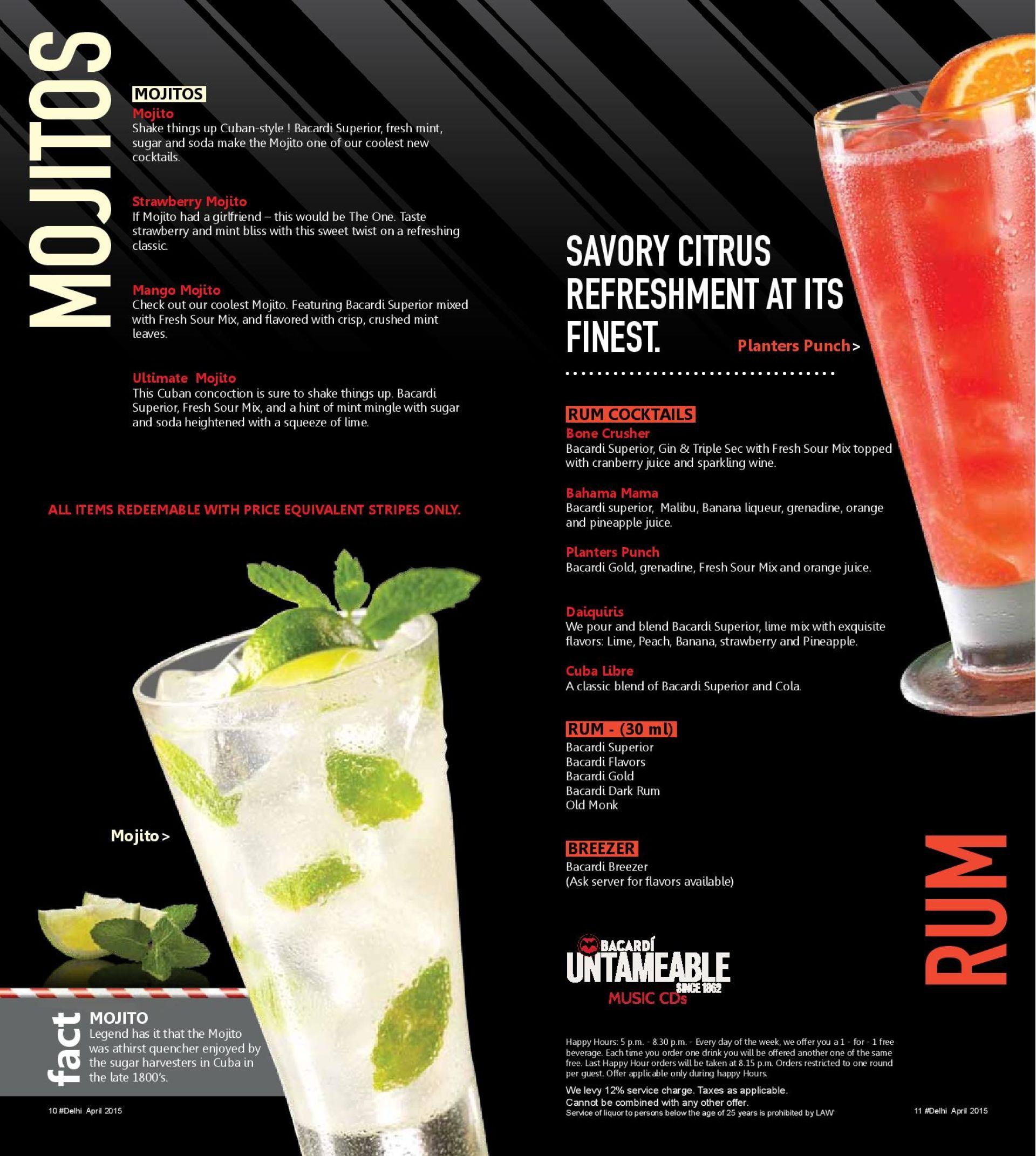 tgi friday's, mgf metropolitan mall, mg road, delhi ncr restaurants