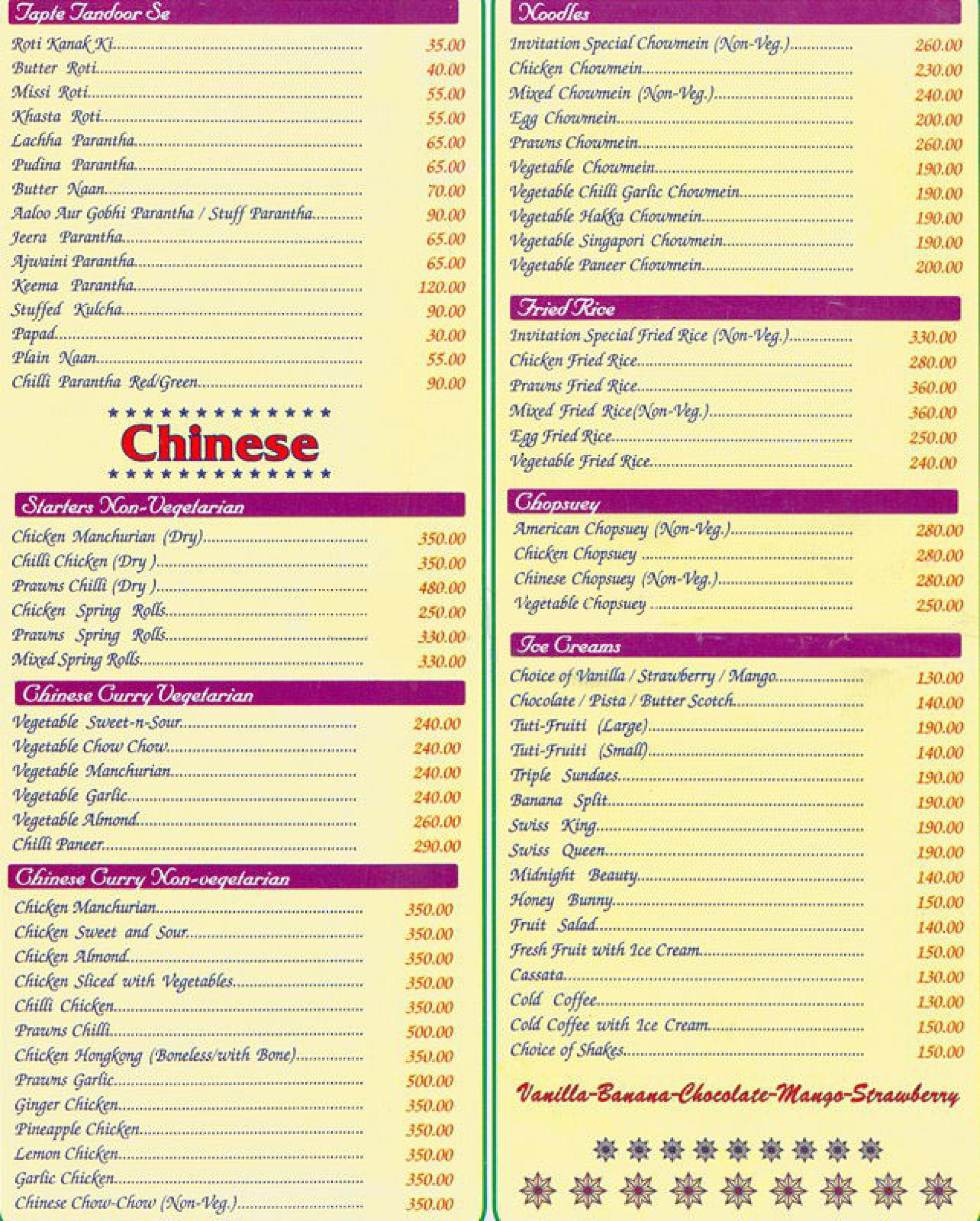 Menu of invitation ashok vihar phase 2 north delhi delhi ncr menu of the invitation stopboris Image collections