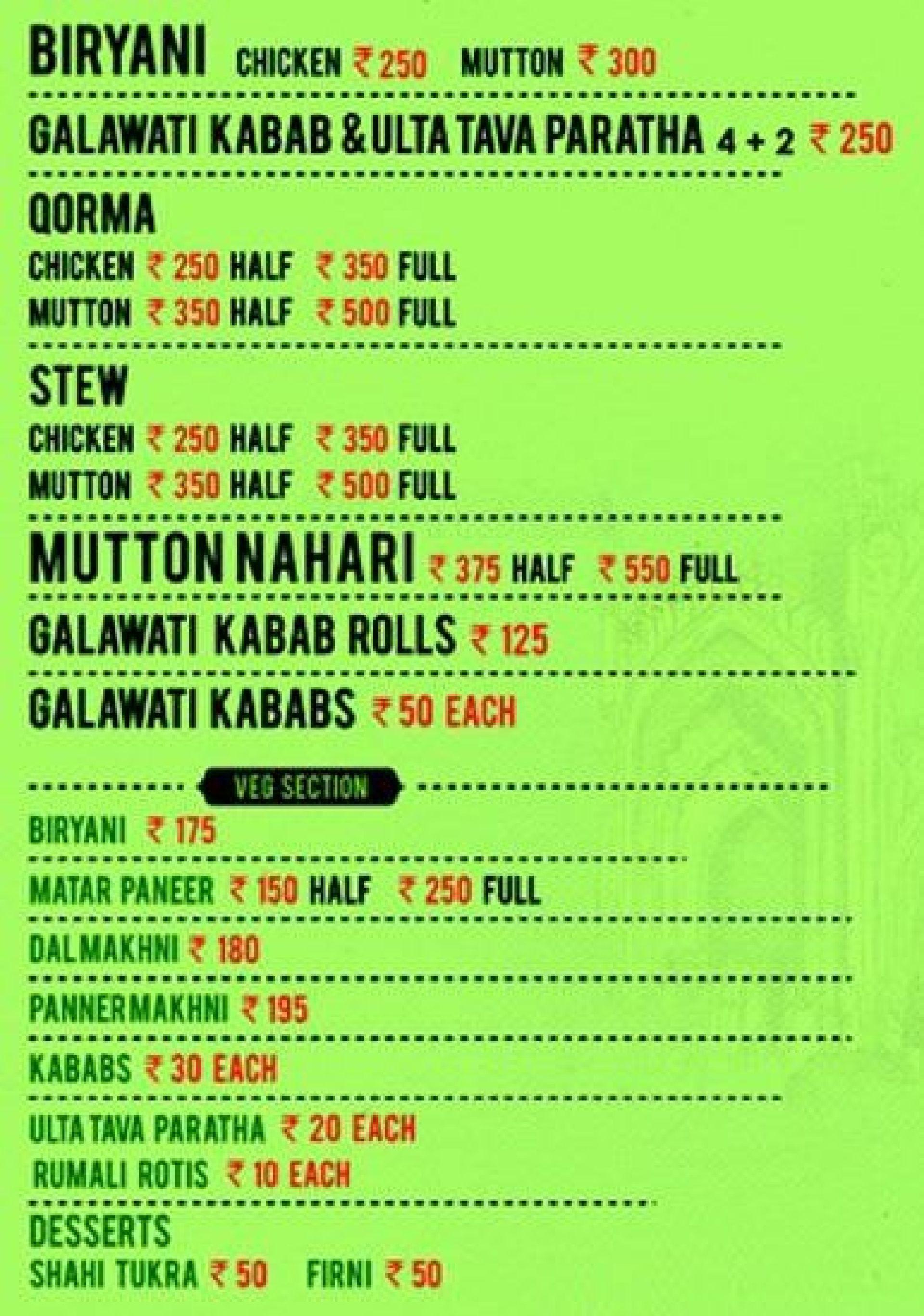 menu menu of the rumis kitchen - Rumis Kitchen Menu