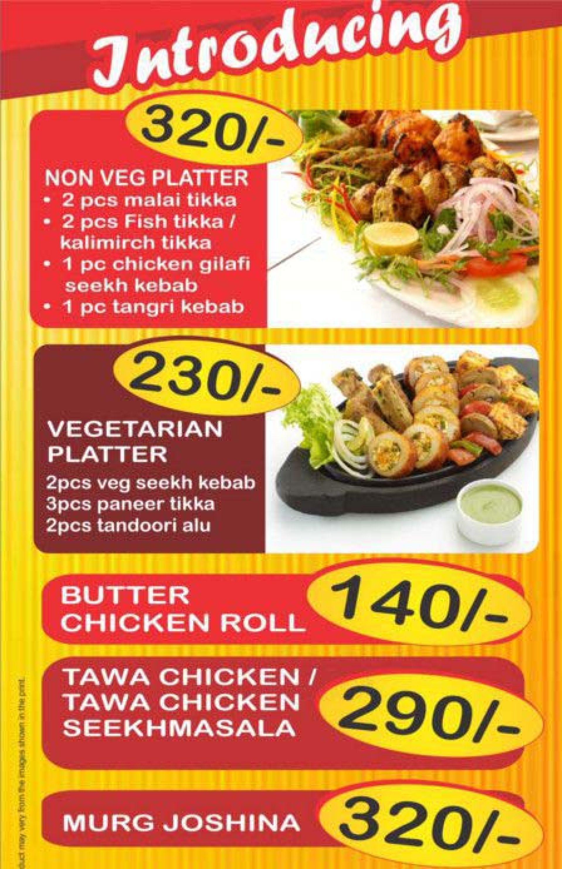 Menu of the Kebabs & Curries