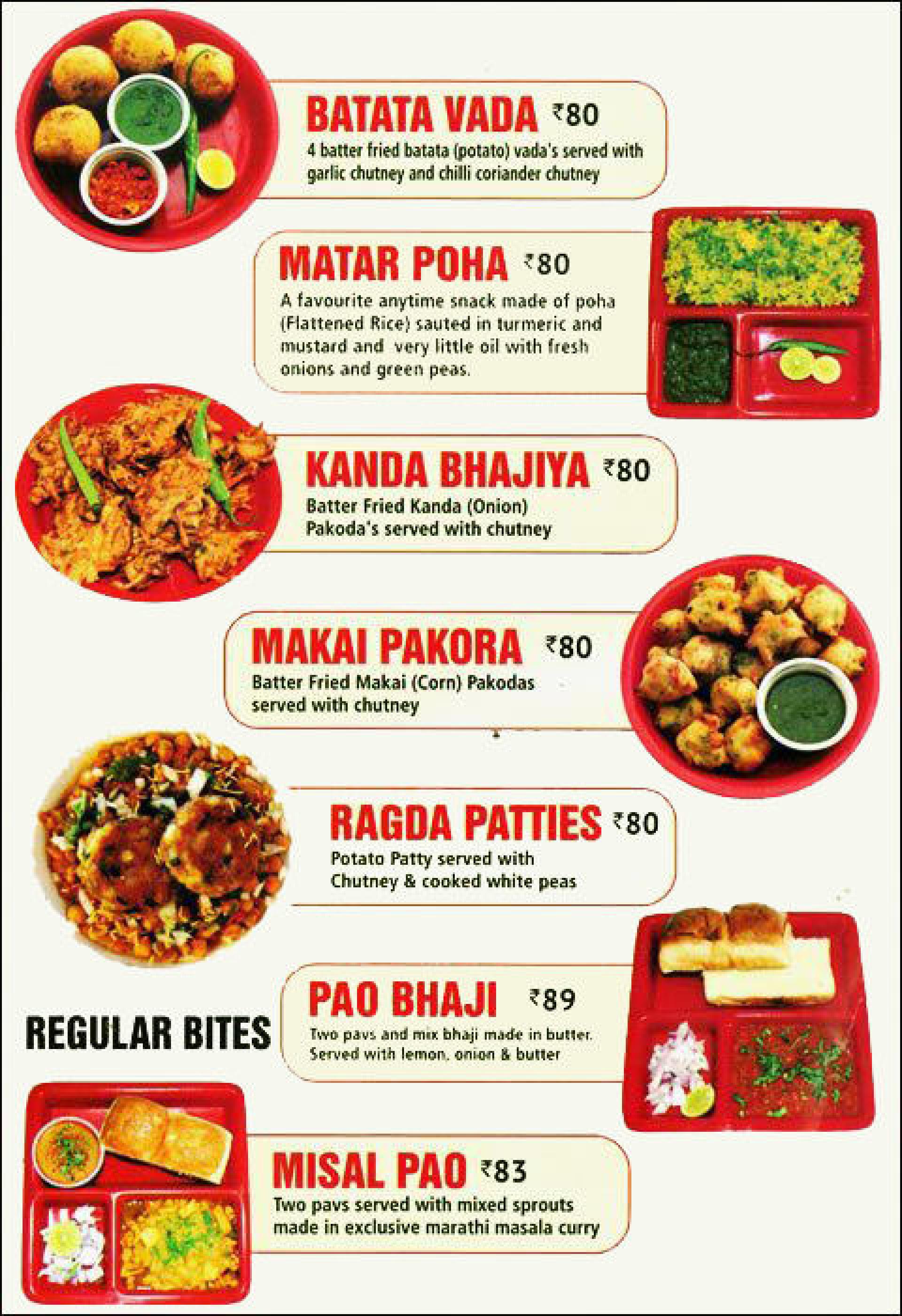Menu of the Maharashtra Foods
