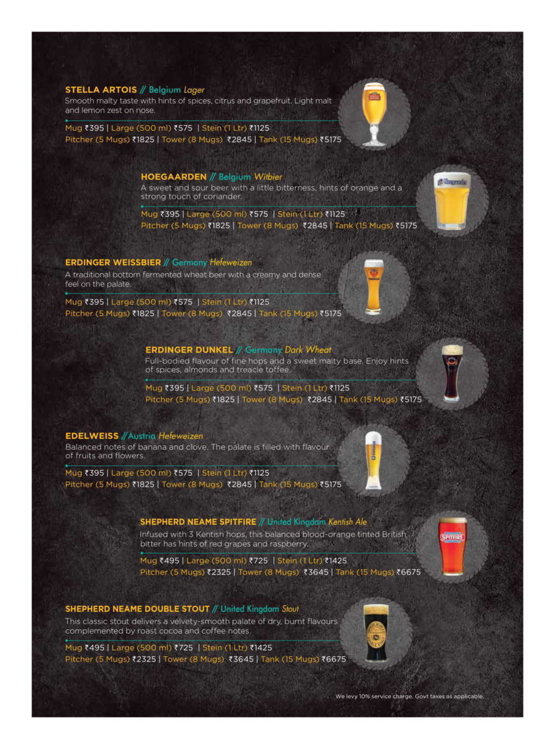 Menu of the The Beer Cafe