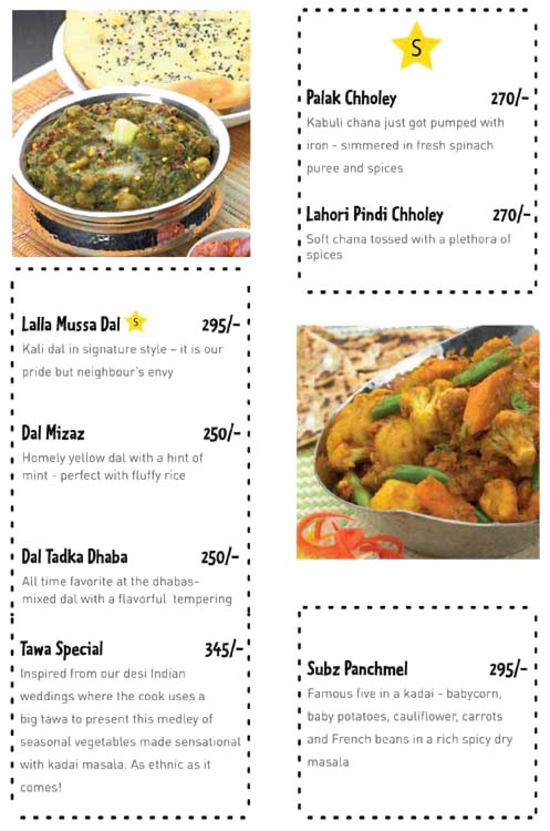 Menu of the The Yellow Chilli