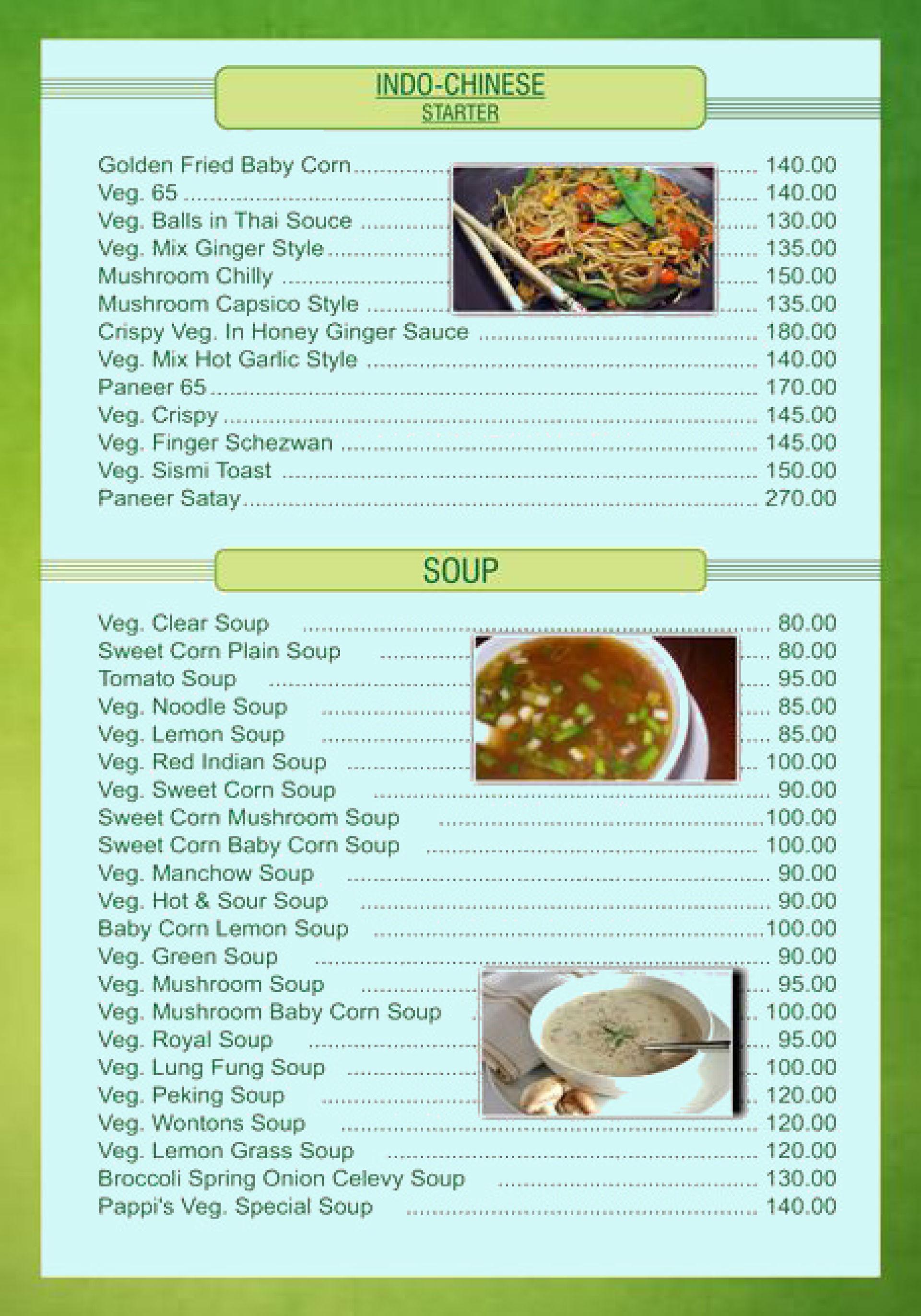 Menu of Pappis Kitchen, Borivali West, Western Suburbs, Mumbai ...