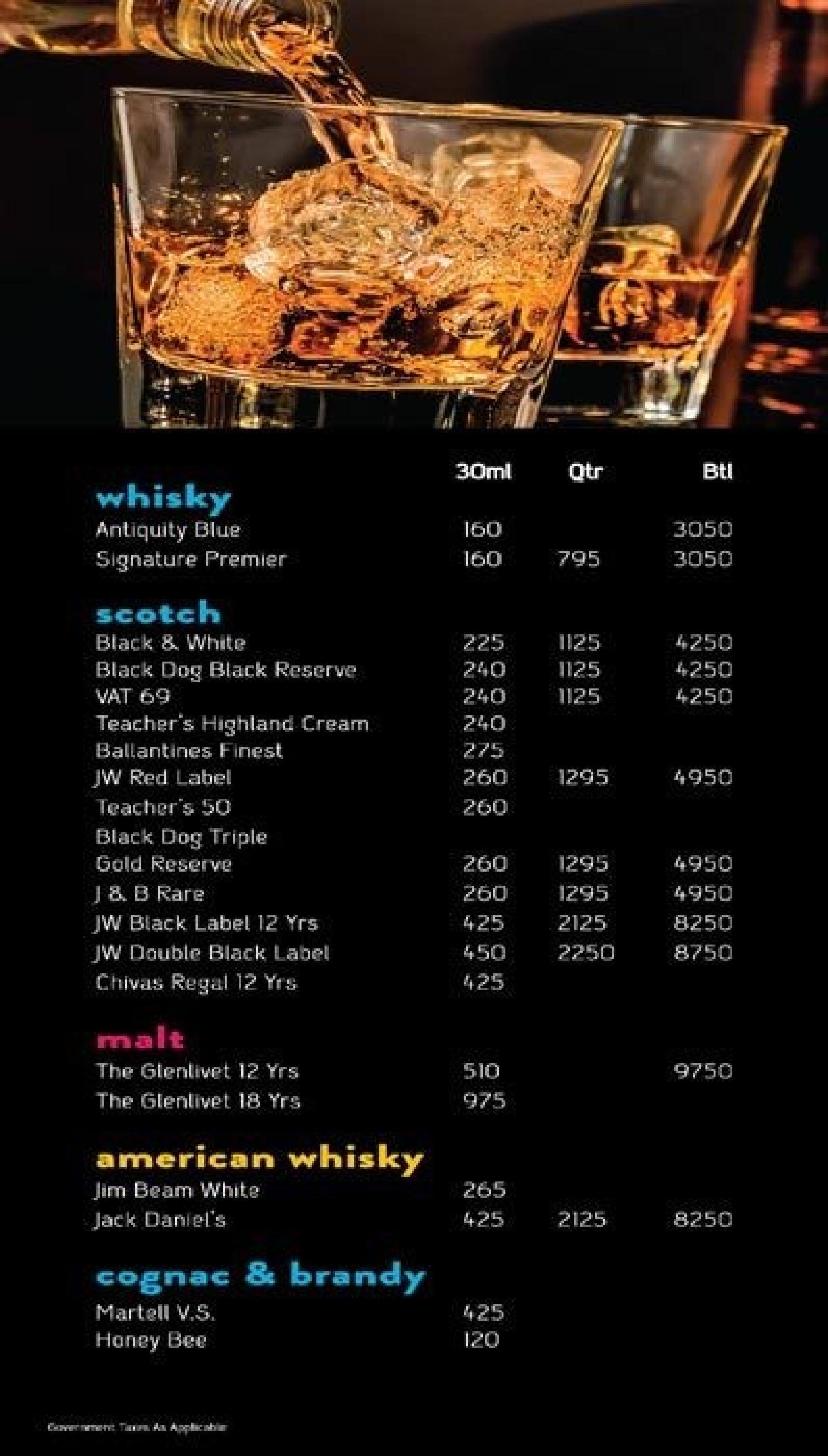 Menu of the Hoppipola - All Day Bar & Bonhomie