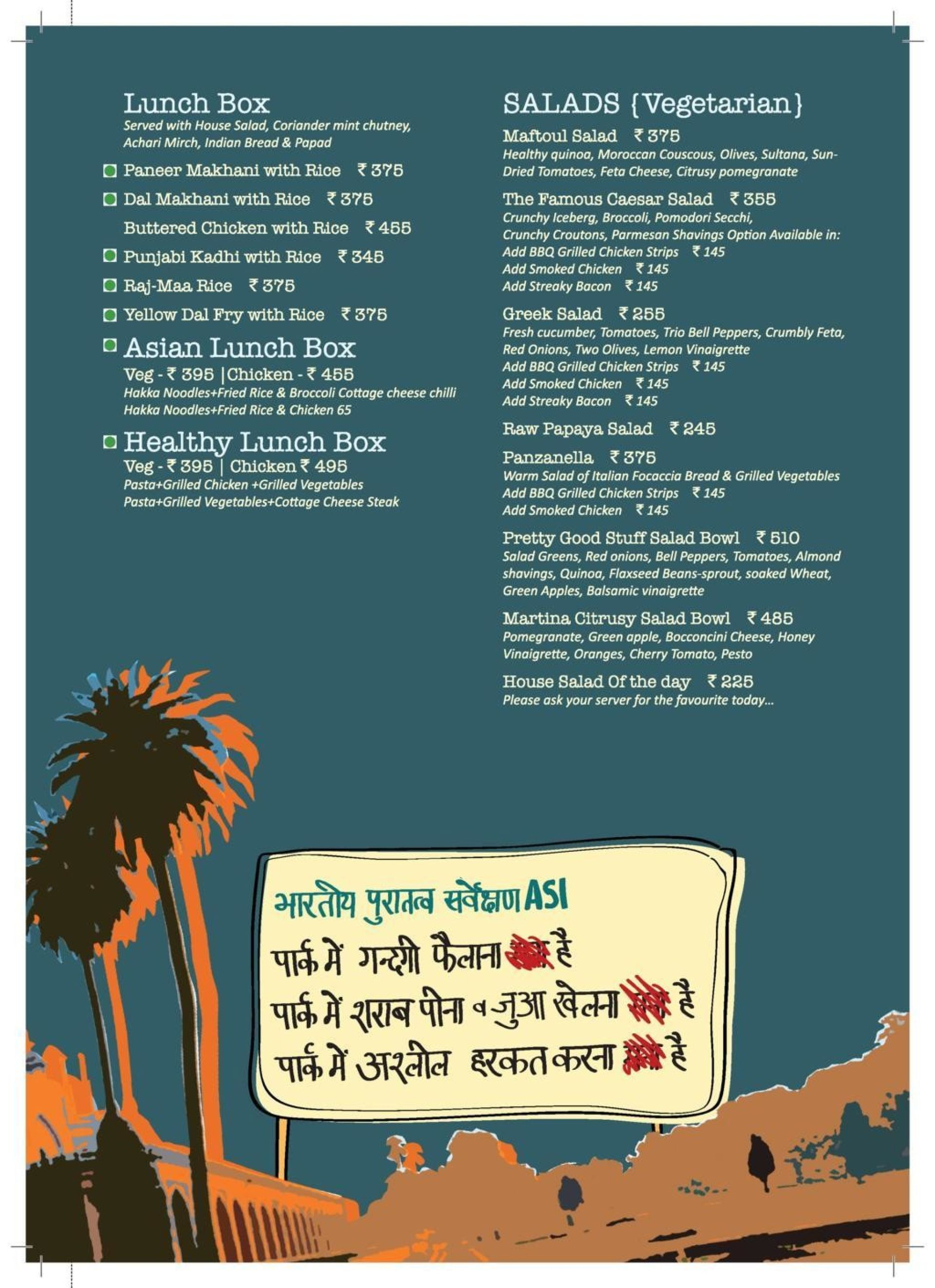 Menu of Cafe Delhi Heights, DLF Mall of India, Sector 18, Noida ...
