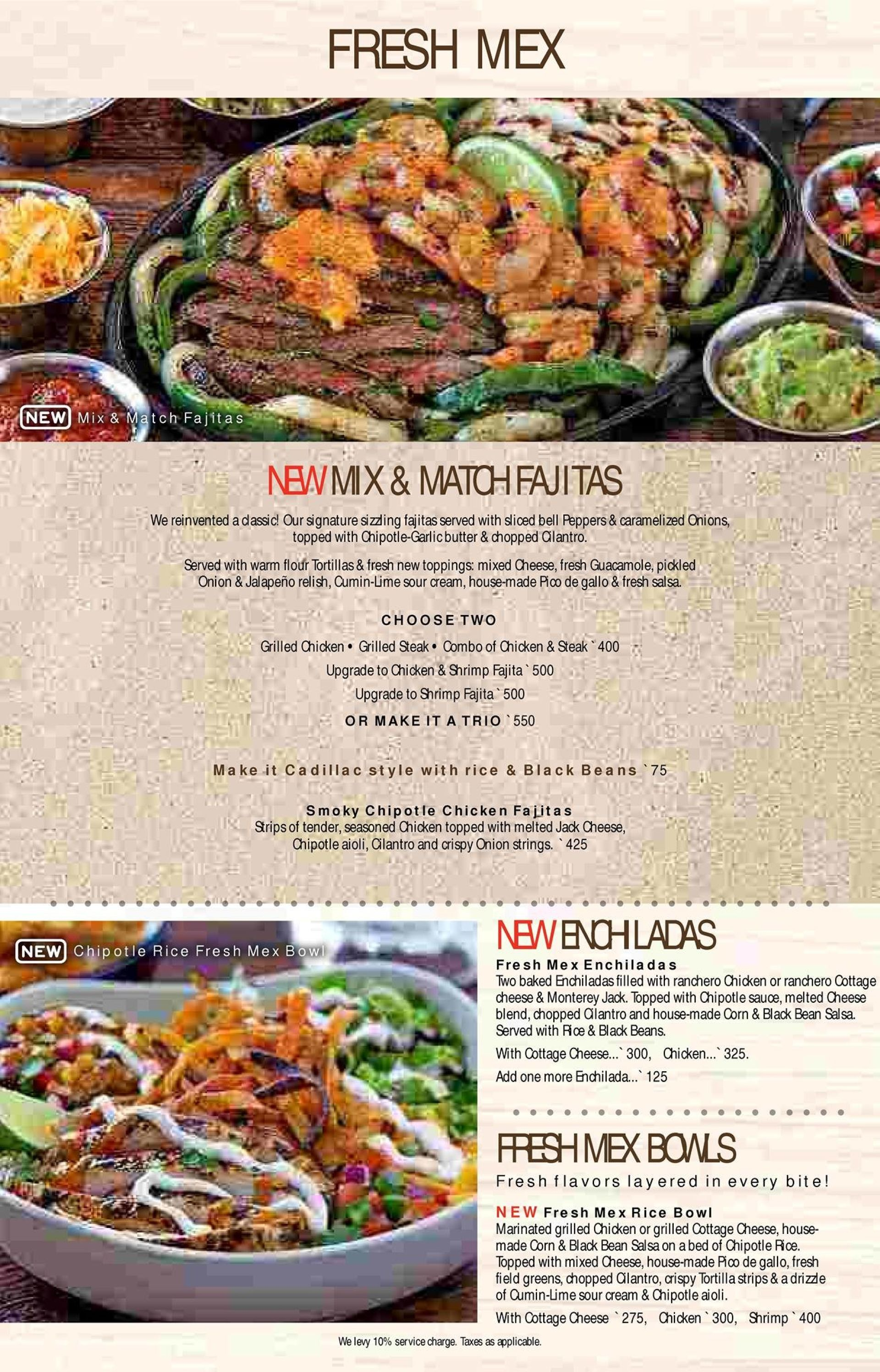 Menu of the Chili's Grill & Bar