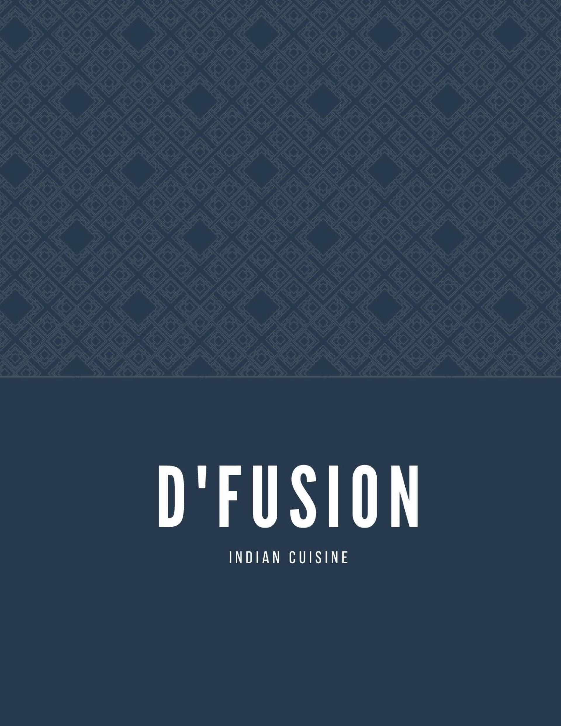 Menu of the d'fusion