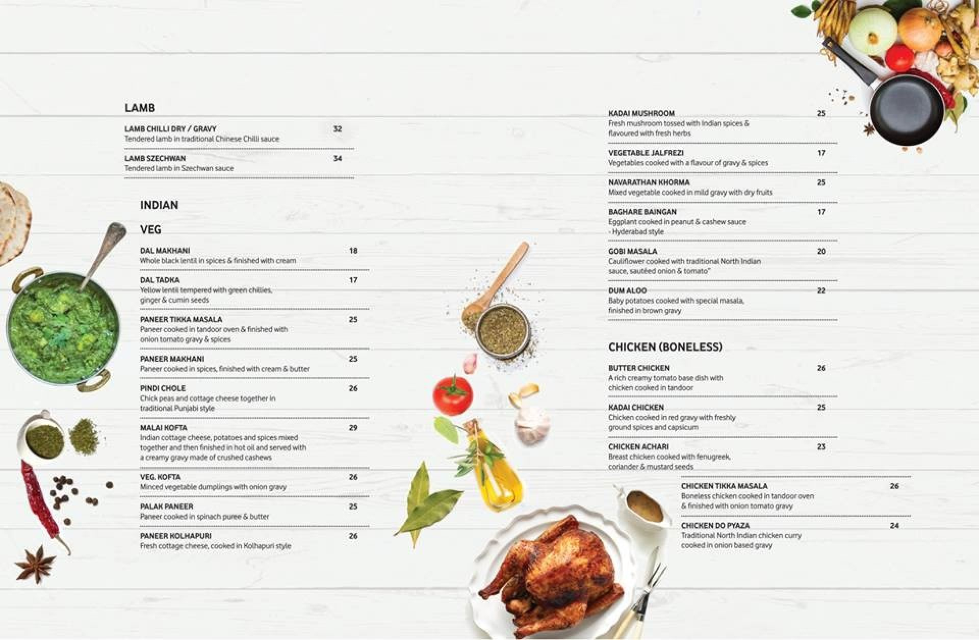 Menu of the Shwe's Delight