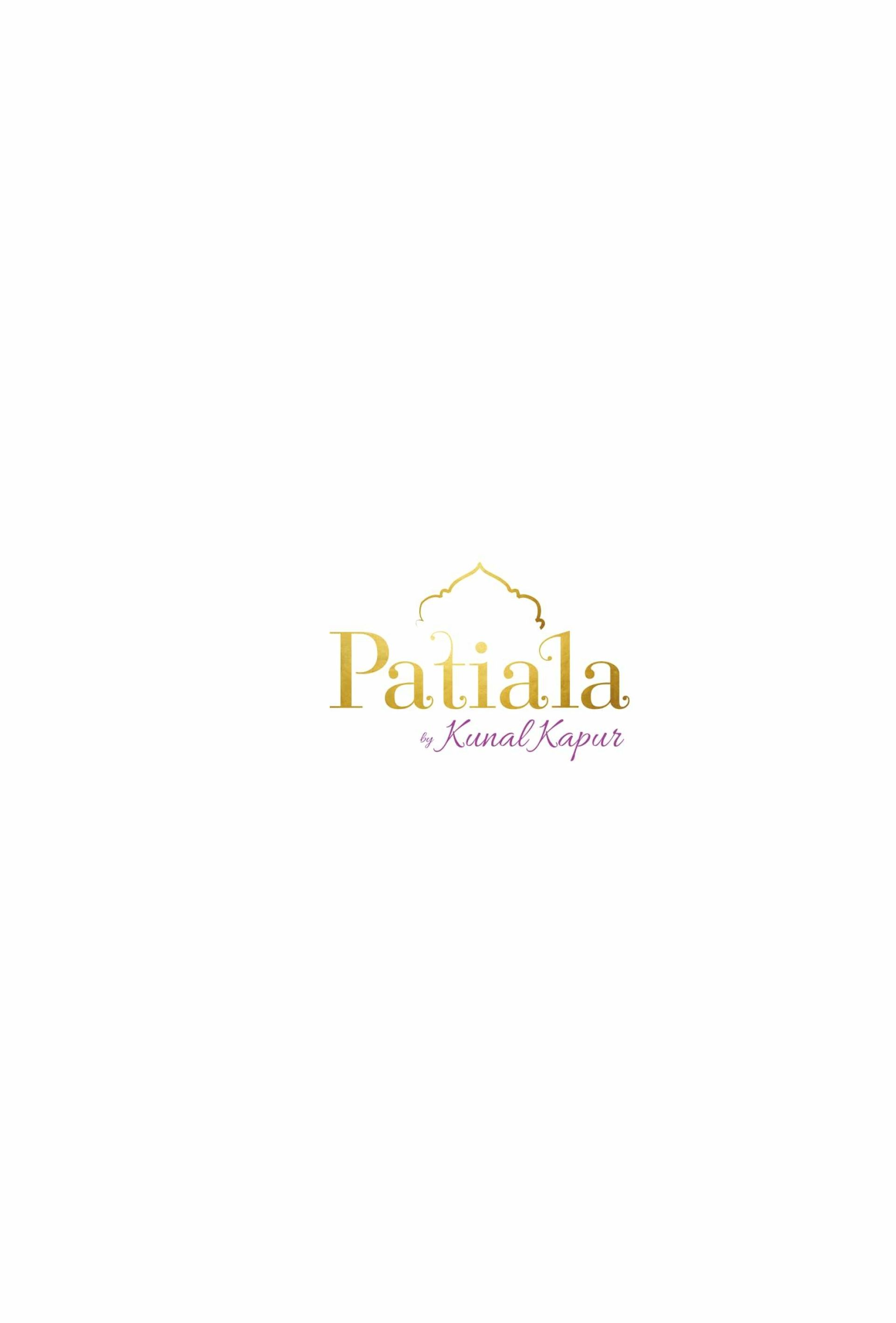 Menu of the Patiala By Kunal Kapur