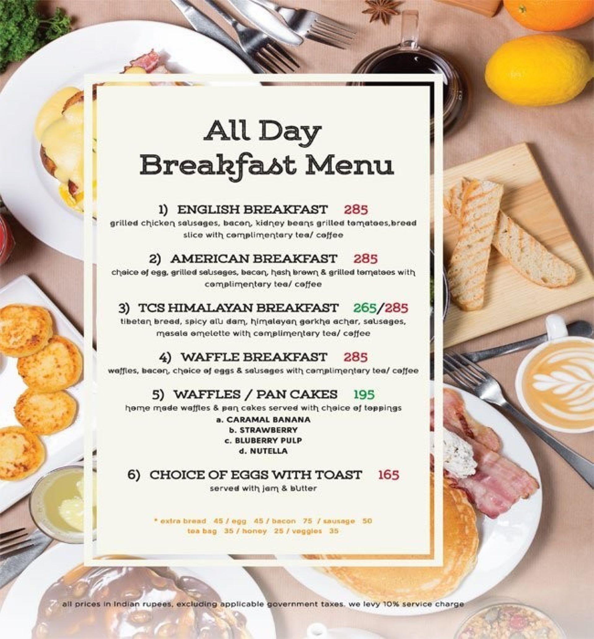 menu of the coffee shop, pvr anupam complex, saket, delhi ncr