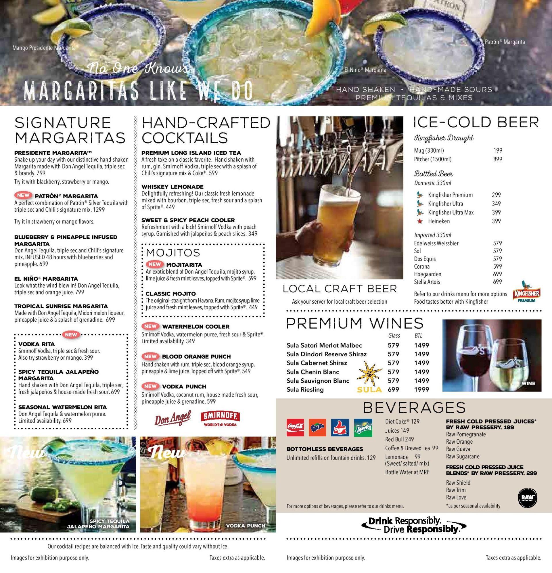 Menu of the Chili's American Grill & Bar