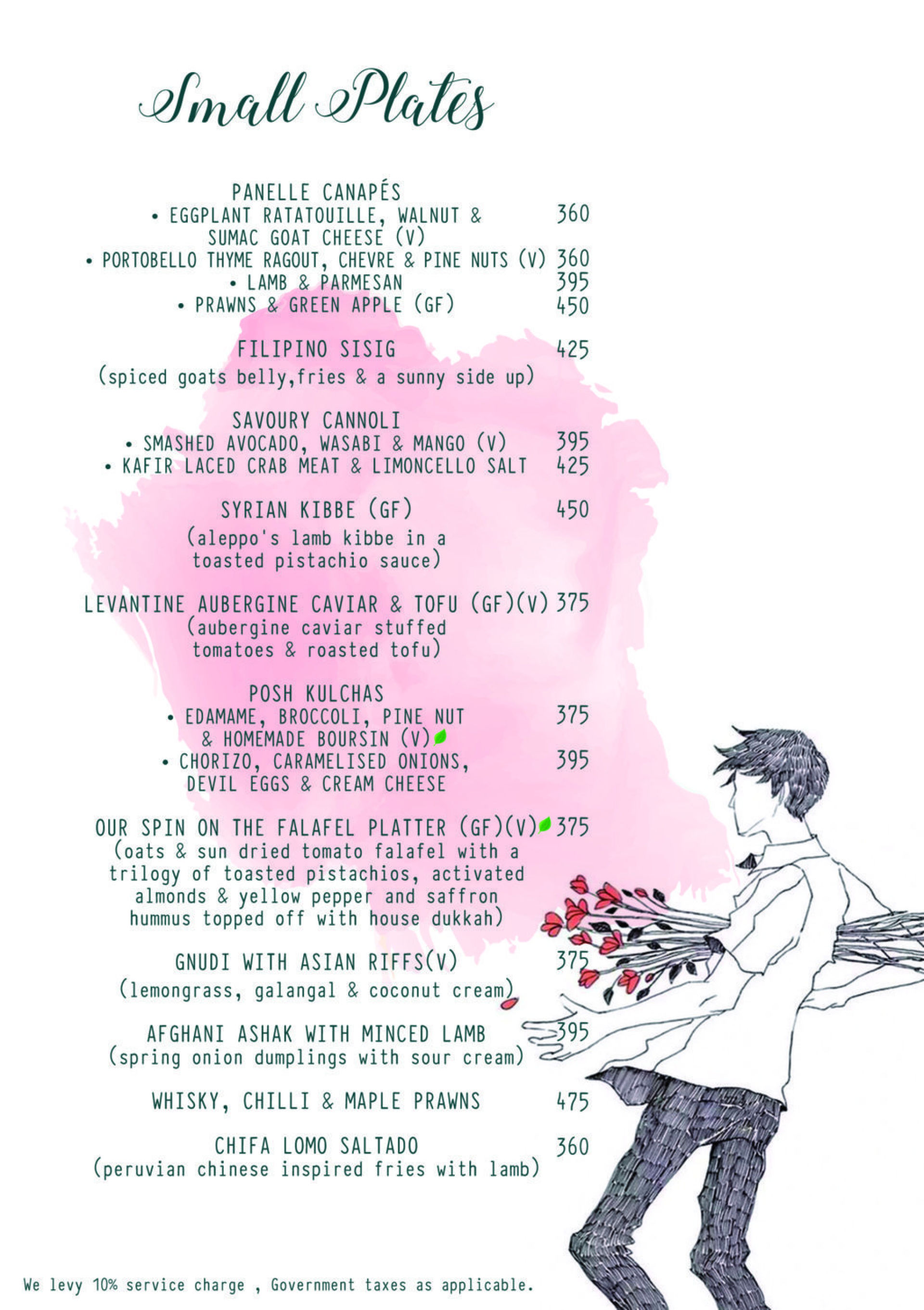 Menu of the The Looney The Lover & The Poet