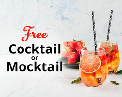 Free Cocktail or Mocktail