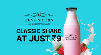 Keventers Shakes @ Rs.9 Only!