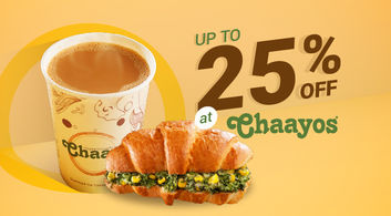 Deals on Chai Combos @ Chaayos