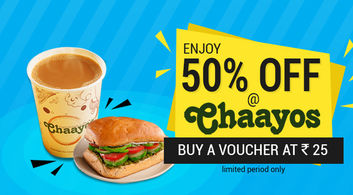 Chaayos Offer @JUST Rs.25