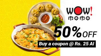 50% off at Wow! Momo