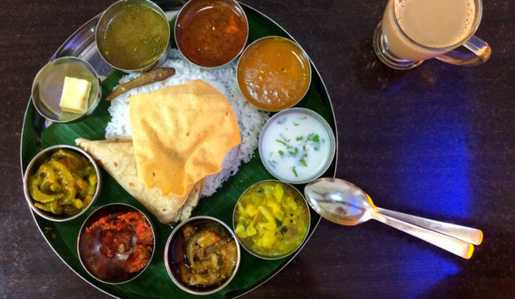 South Indian Thali, Rajasthani, Keralite and North Indian thalis on offer