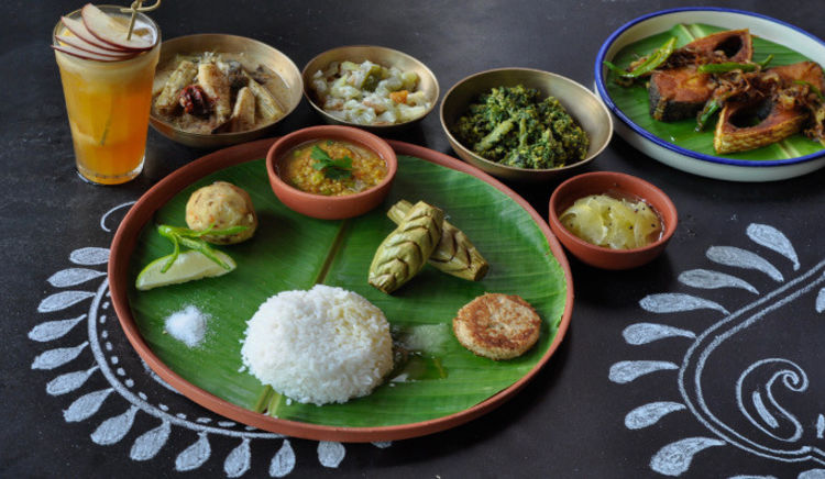 Savour a languid meal comprising an array of Bengali delicacies