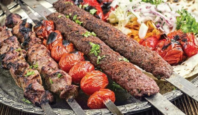 Different kinds of mouth-watering kababs